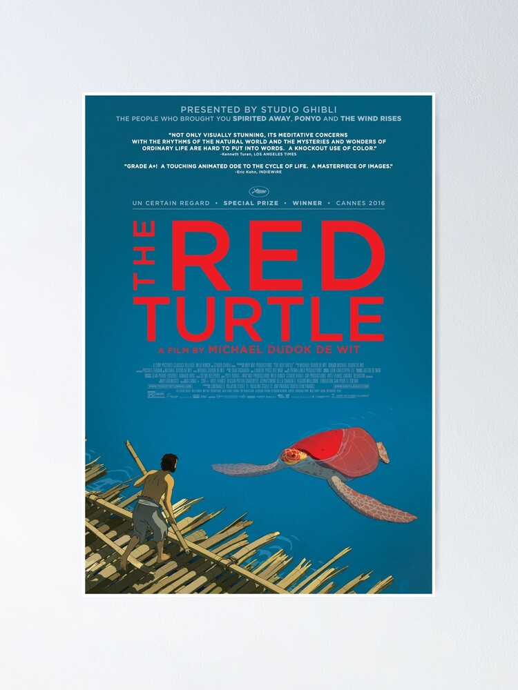 The Red Turtle Poster 2016 Michael Dudok De Wit Poster By Viktordesigns Redbubble