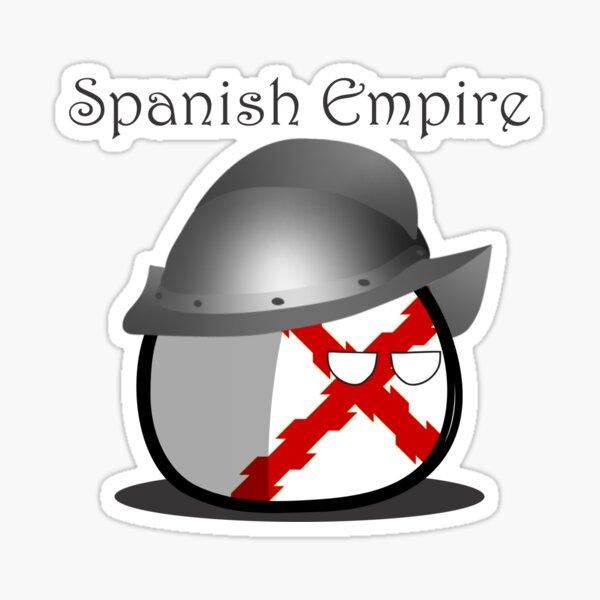 Countryball del Imperio Español Pegatina
