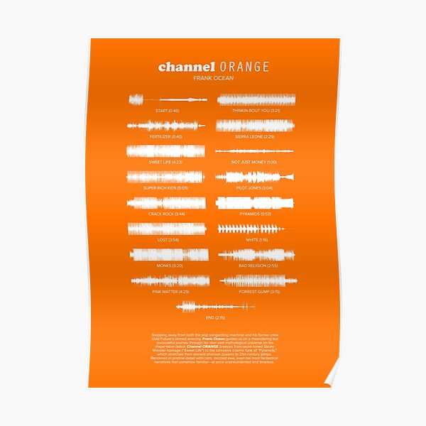 Channel Orange by Frank Ocean Poster