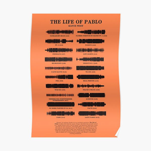 The Life of Pablo by Kanye West Poster