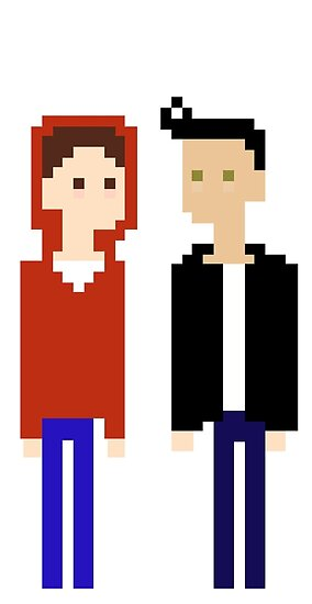 Quot Pixel Sterek Teen Wolf Quot Posters By Erialeduab Redbubble