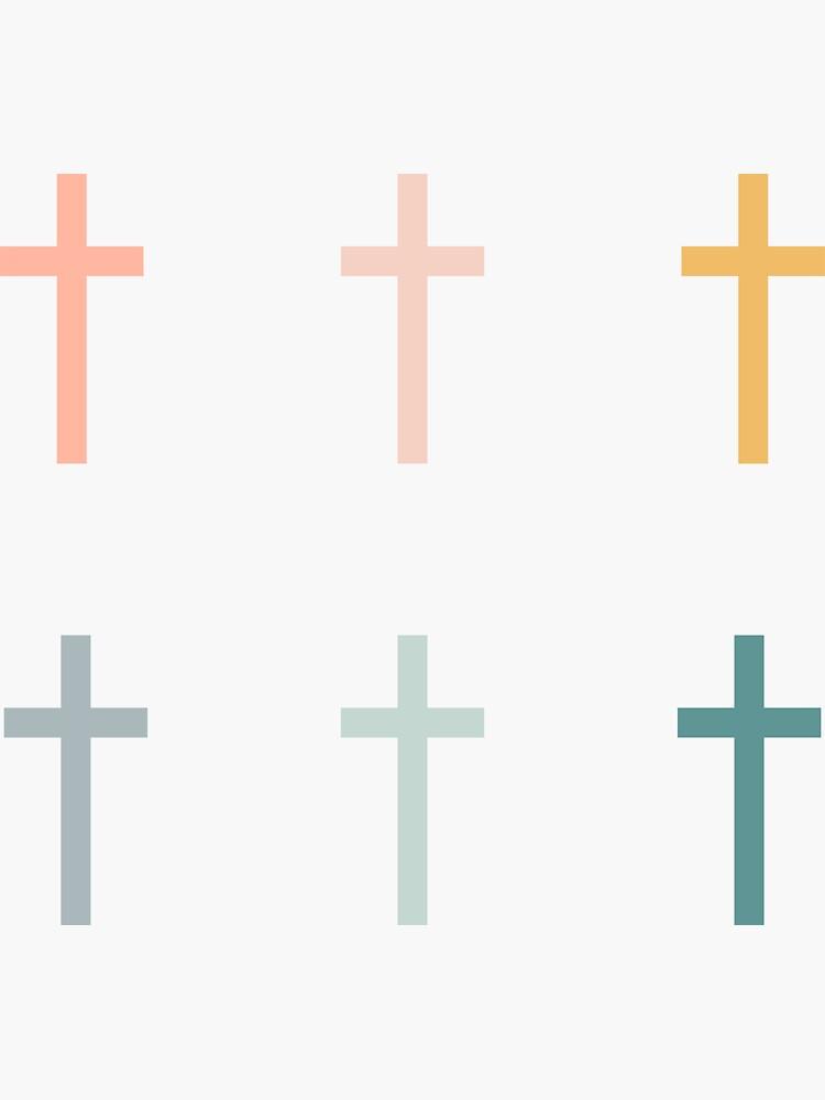 «Pack d'autocollants croix chrétienne» par walk-by-faith
