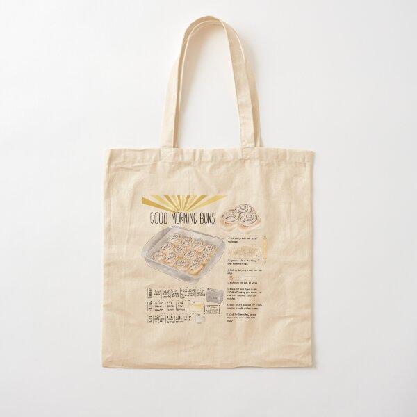 Illustrated Cinnamon Roll Recipe Cotton Tote Bag