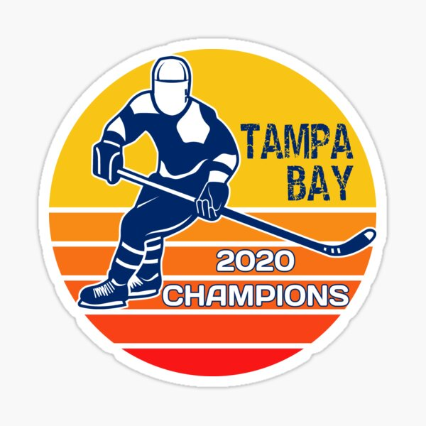 Tampa Bay Hockey, Tampa Bay 2020 Champions, Tampa Champs Sticker