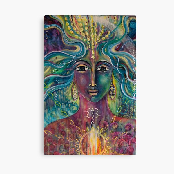 Queen of Rainbow Mystery and Magic Canvas Print