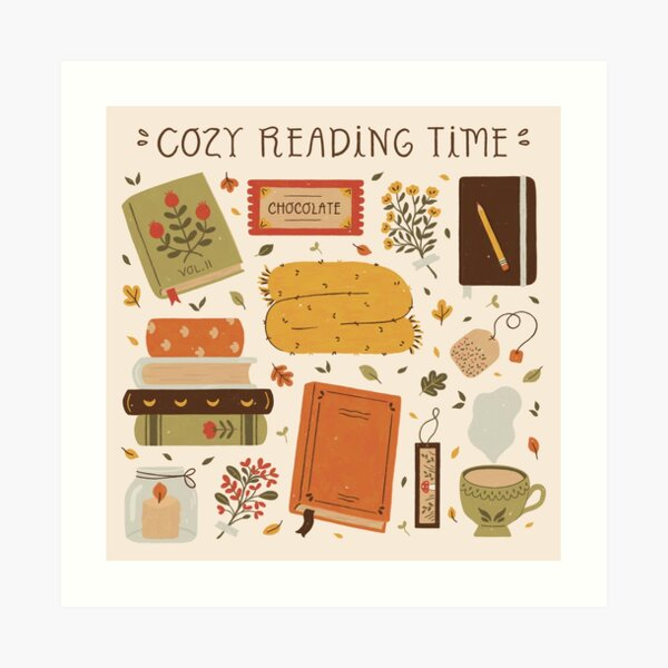Cozy Reading Time Art Print