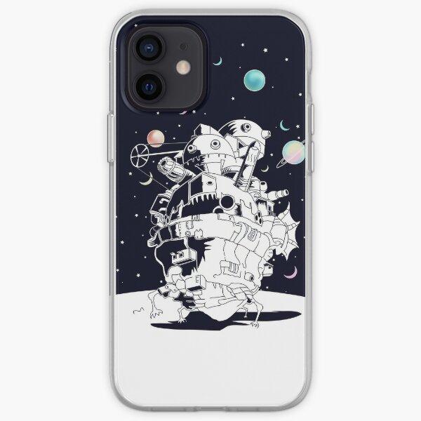 Château dans une nuit étoilée Coque souple iPhone