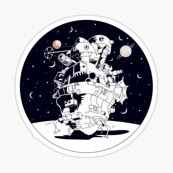 Château dans une nuit étoilée Sticker