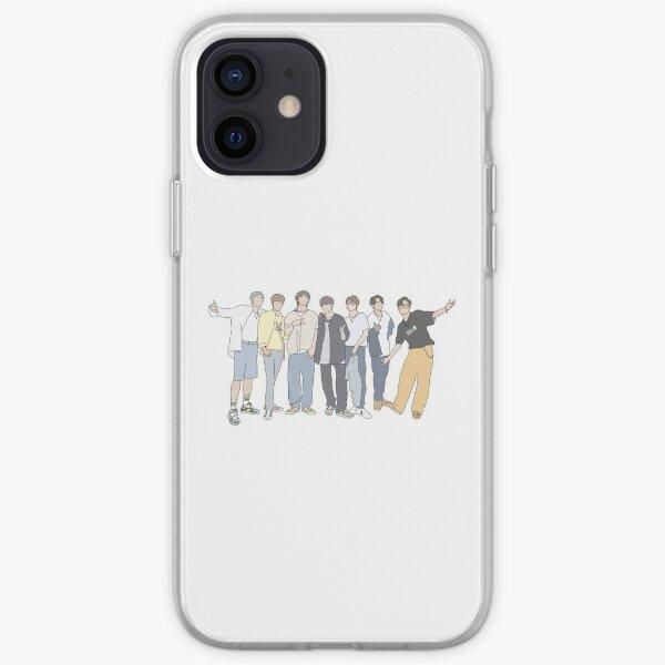 Banda de chicos K-Pop estilo BTS Funda blanda para iPhone