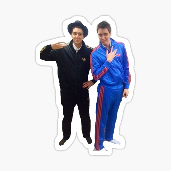 James and Oliver Phelps Sticker