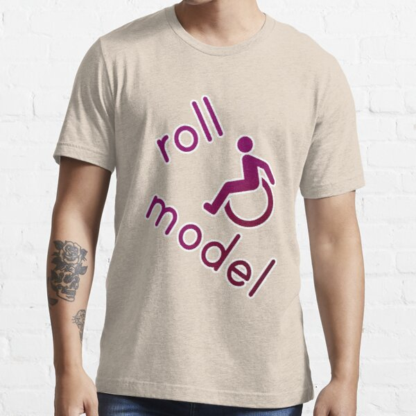Roll Model - Disability Tees - in purple Essential T-Shirt