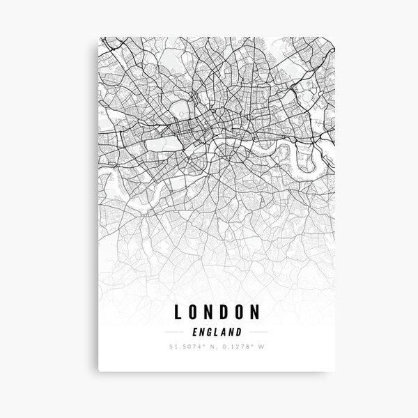London England Street Map Print Canvas Print