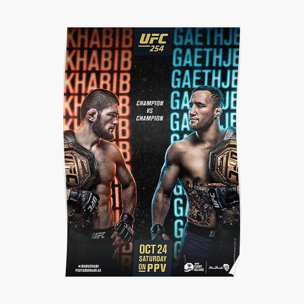 UFC 254 OFFICIAL: Khabib Vs Gaethje Poster