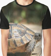 Sideview of A Walking Turkish Tortoise Graphic T-Shirt