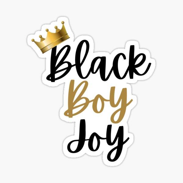 Black boy joy Sticker