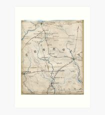 Civil War Maps 0441 Georgia Art Print