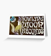 HOWLING MOON RECORDS APPAREL  Greeting Card