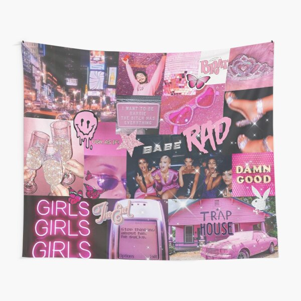 pink vibe Tapestry