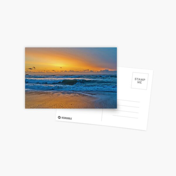 Golden Pacific Sunset - Bandon, Oregon Postcard