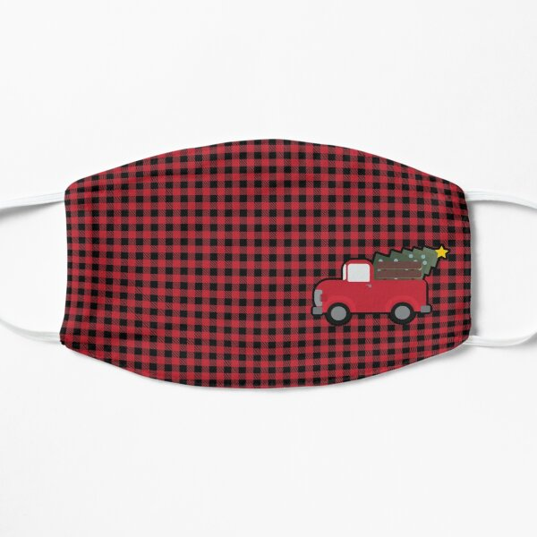 Old Christmas Truck, Cute Christmas Truck, Old Timey Truck for Christmas Flat Mask