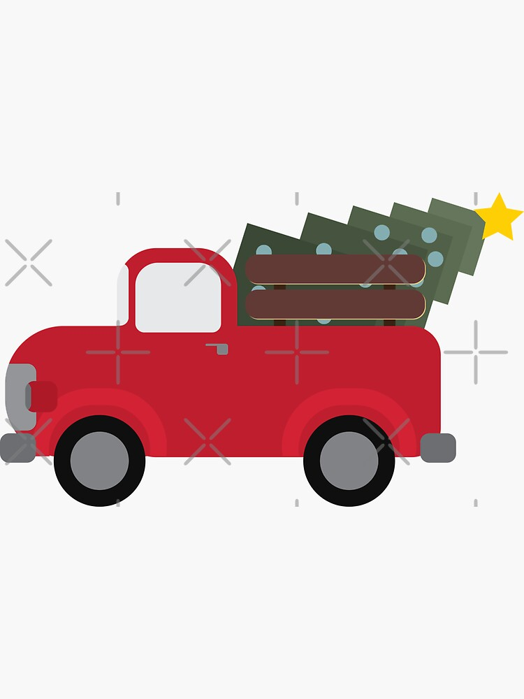 Old Christmas Truck, Cute Christmas Truck, Old Timey Truck for Christmas by brainthought