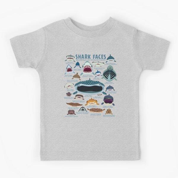 Shark Faces Kids T-Shirt