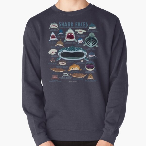 Shark Faces Pullover Sweatshirt