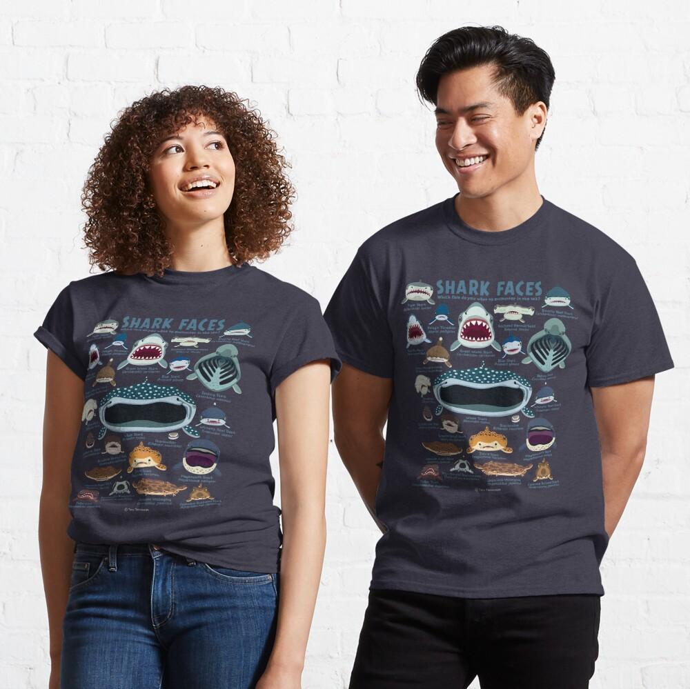 Shark Faces Classic T-Shirt