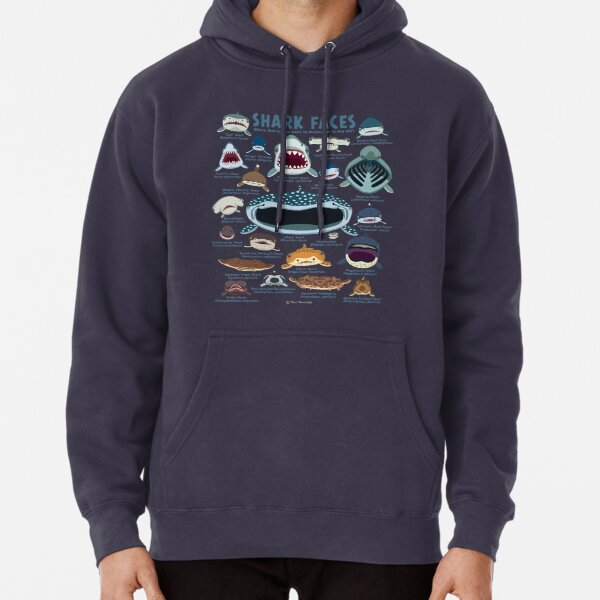 Shark Faces Pullover Hoodie