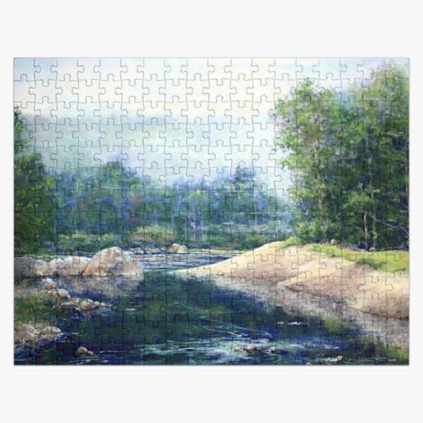 Morning Mist on Mad River Jigsaw Puzzle Jigsaw Puzzle