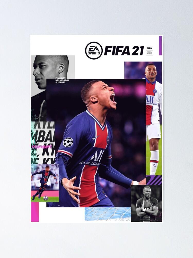 """mbappe fifa 21 cover"" posterdekssgames  redbubble"