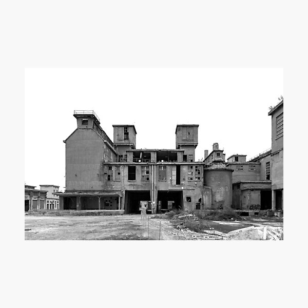 The former cement factory Photographic Print