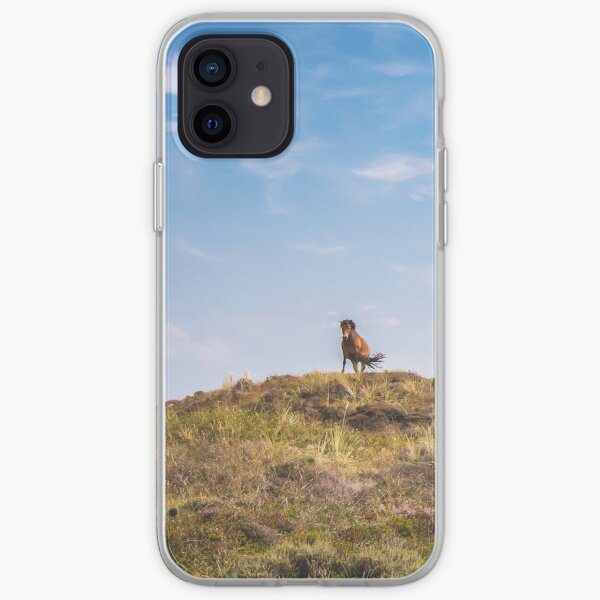 Wild horse on a hill iPhone Soft Case