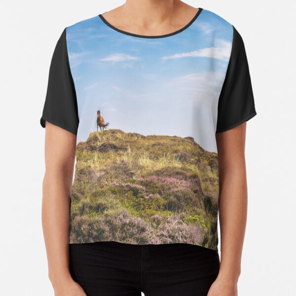 Wild horse on a hill Chiffon Top