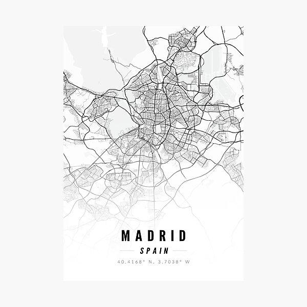 Madrid Map Art Print Photographic Print