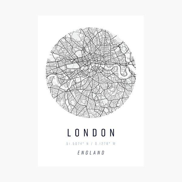 London Street Map Art Photographic Print