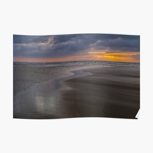 Sunrise over the ocean at the northern tip of Denmark Poster