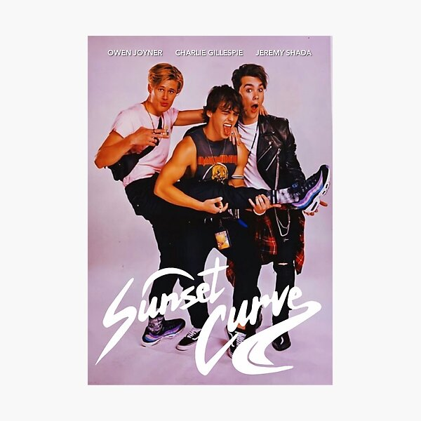 Sunset Curve  band poster Photographic Print