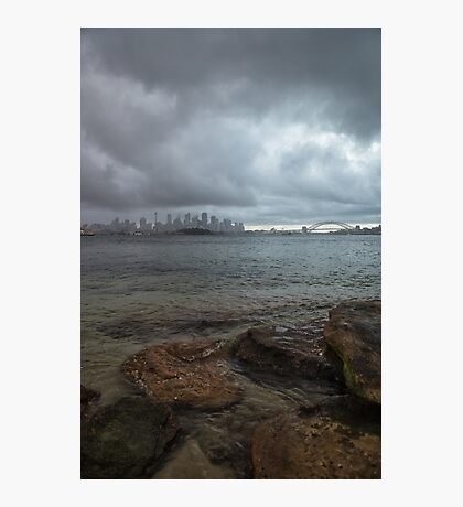 Stormy Harbour Photographic Print