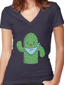 Mr J.G Cactus  Women's Fitted V-Neck T-Shirt