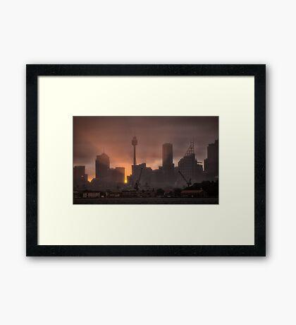 A Rainy Sunset Framed Print