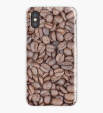 Coffee beans texture iPhone Case/Skin