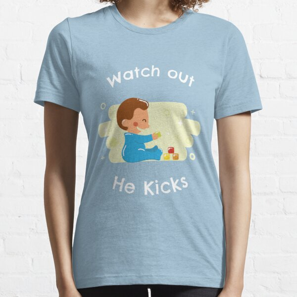Pregnant He Kicks Essential T-Shirt