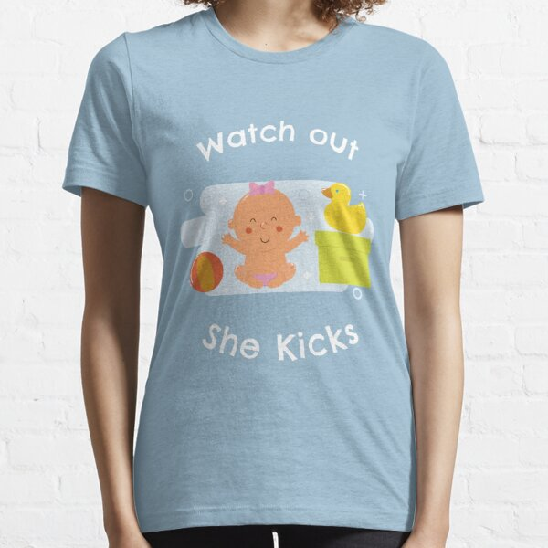 Pregnant She Kicks Essential T-Shirt