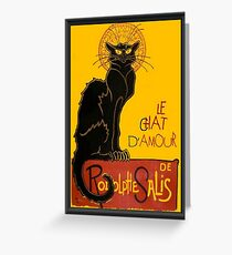 Le Chat D'Amour Love Greeting  Greeting Card
