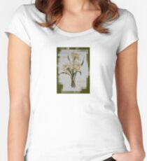 Wishing You A Wonderful Day Double Narcissi In A Bouquet Women's Fitted Scoop T-Shirt