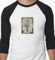 Wishing You A Wonderful Day Double Narcissi In A Bouquet Men's Baseball ¾ T-Shirt