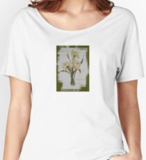 Wishing You A Wonderful Day Double Narcissi In A Bouquet Women's Relaxed Fit T-Shirt