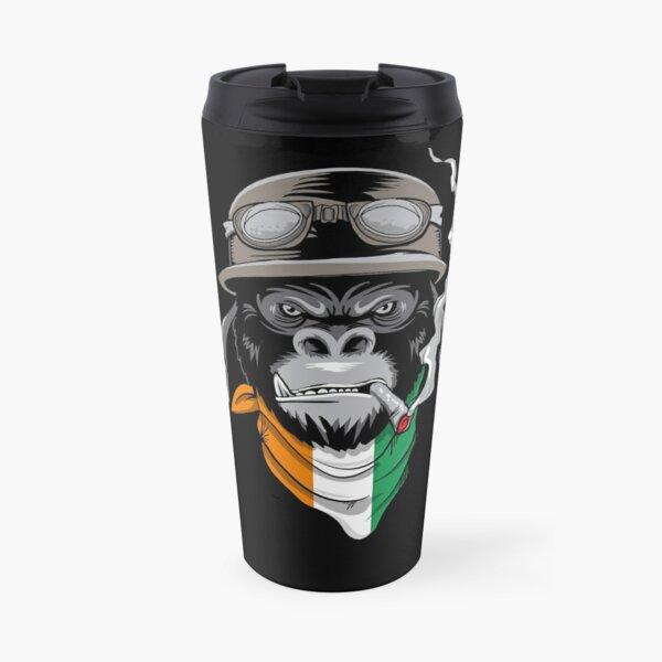 Patriotic Ivorian Motorist Biker Gorilla Flag Of Côte d'Ivoire Roots Nationalism Travel Mug