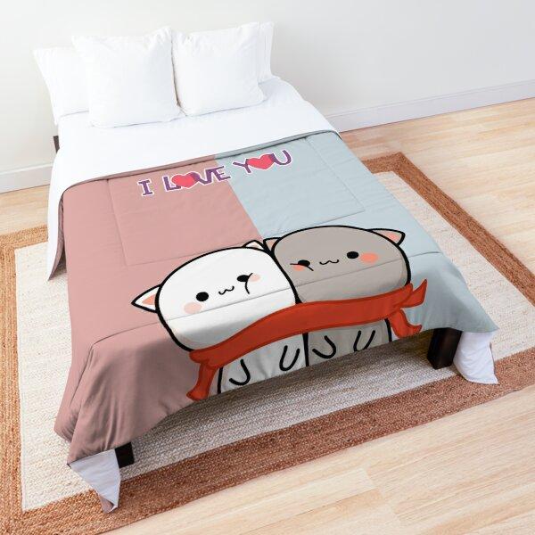 Milk And Mocha. Teddy bear day. I love you, Valentine day Comforter